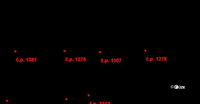 Smíchov 1307, Praha na parcele st. 267 v KÚ Smíchov, Katastrální mapa