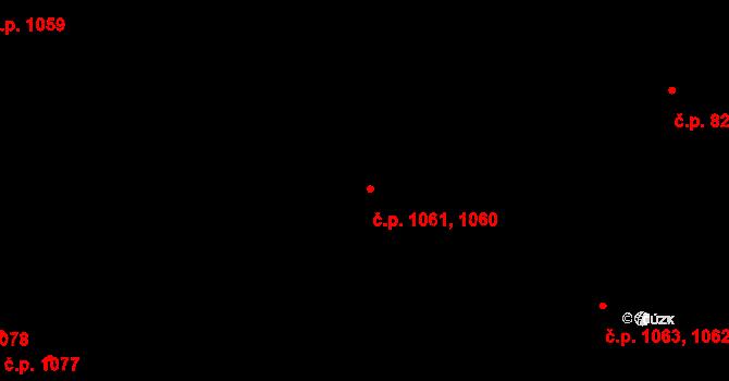 Jemnice 1061 na parcele st. 2082/33 v KÚ Jemnice, Katastrální mapa