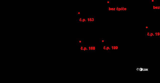 Zábrdovice 188, Brno na parcele st. 526 v KÚ Zábrdovice, Katastrální mapa