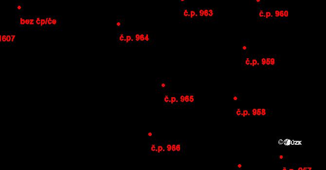 České Budějovice 5 965, České Budějovice na parcele st. 2076 v KÚ České Budějovice 5, Katastrální mapa
