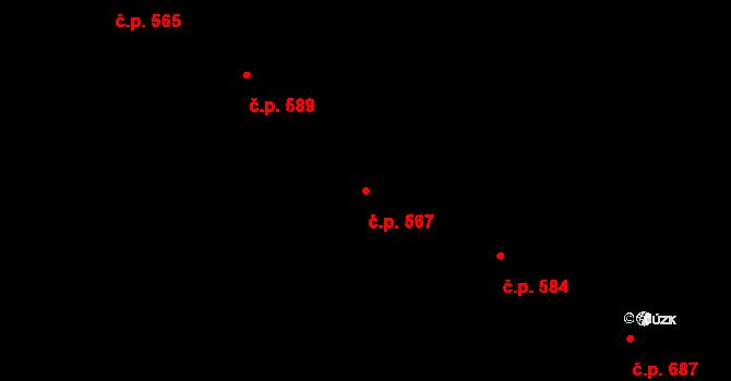 Horní Kosov 567, Jihlava na parcele st. 1228/147 v KÚ Horní Kosov, Katastrální mapa