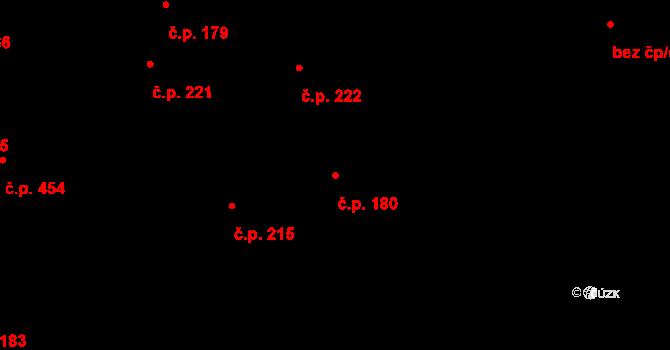 Buštěhrad 180 na parcele st. 1007 v KÚ Buštěhrad, Katastrální mapa