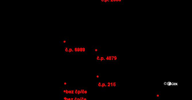 Zlín 4079 na parcele st. 6360/1 v KÚ Zlín, Katastrální mapa