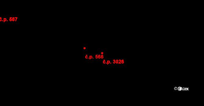 Vítkovice 3026, Ostrava, Katastrální mapa