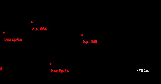 Malá Skála 246 na parcele st. 500 v KÚ Sněhov, Katastrální mapa