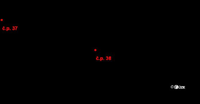 Lhota Netřeba 38, Podbřezí na parcele st. 138 v KÚ Lhota u Dobrušky, Katastrální mapa