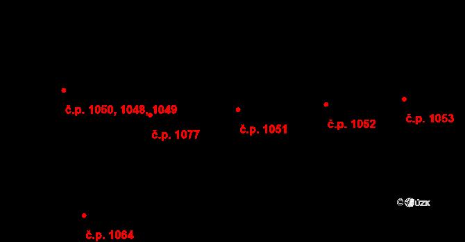 Krč 1051, Praha na parcele st. 1255/12 v KÚ Krč, Katastrální mapa