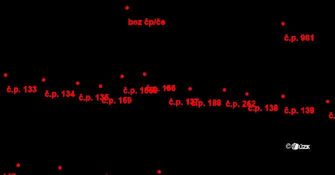 Újezd u Brna 137 na parcele st. 113/2 v KÚ Újezd u Brna, Katastrální mapa