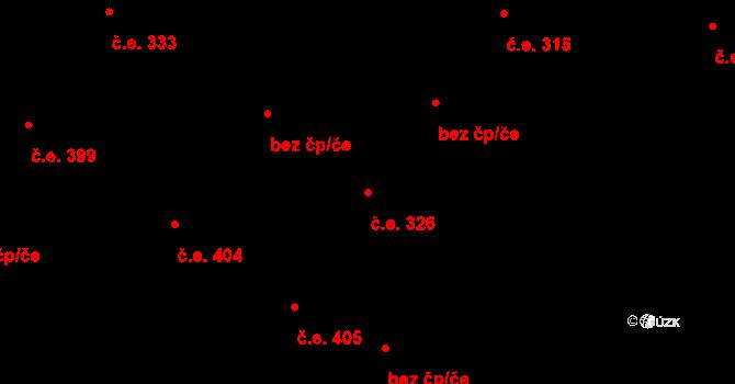 Hloubětín 326, Praha na parcele st. 1363/3 v KÚ Hloubětín, Katastrální mapa