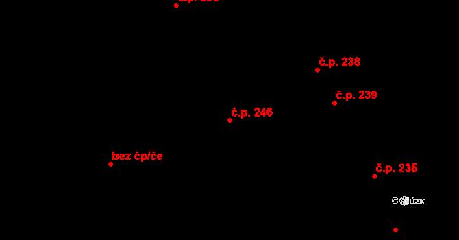 Nové Sedlo 246 na parcele st. 765 v KÚ Nové Sedlo u Lokte, Katastrální mapa