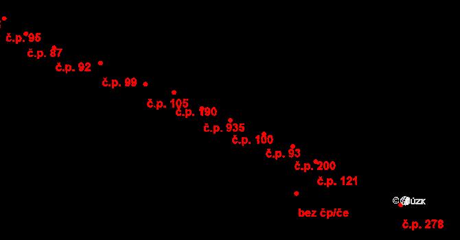 Kohoutovice 100, Brno na parcele st. 706 v KÚ Kohoutovice, Katastrální mapa