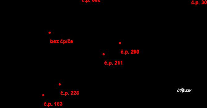 Studánka 211, Pardubice na parcele st. 211 v KÚ Studánka, Katastrální mapa