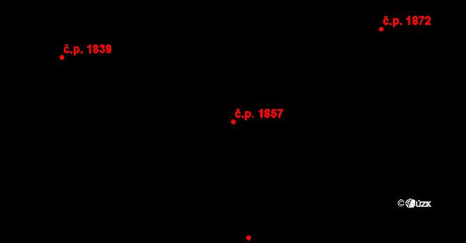 Bílé Předměstí 1857, Pardubice na parcele st. 10569 v KÚ Pardubice, Katastrální mapa