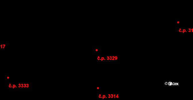 Martinov 3329, Ostrava na parcele st. 3249/119 v KÚ Martinov ve Slezsku, Katastrální mapa