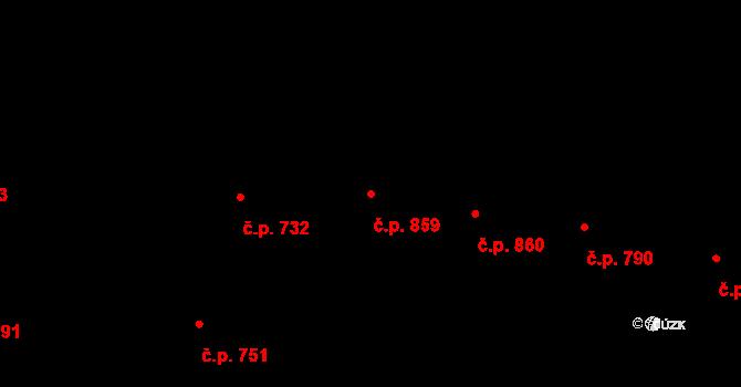 Vinohrady 859, Praha na parcele st. 654 v KÚ Vinohrady, Katastrální mapa