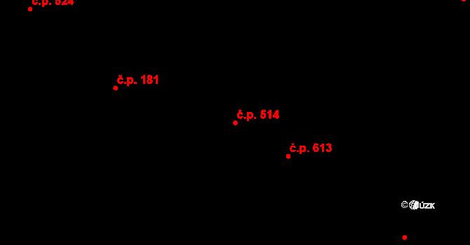 Lednice 514 na parcele st. 1151 v KÚ Lednice na Moravě, Katastrální mapa