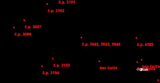 Židenice 3942,3943,3944, Brno na parcele st. 4694/2 v KÚ Židenice, Katastrální mapa