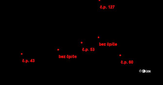 Vyskytná nad Jihlavou 53 na parcele st. 48/2 v KÚ Vyskytná nad Jihlavou, Katastrální mapa