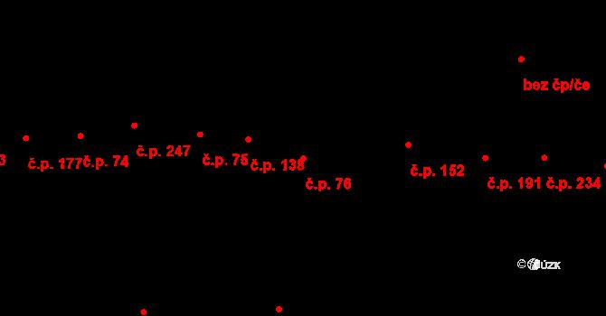 Dolní Němčí 76 na parcele st. 76/1 v KÚ Dolní Němčí, Katastrální mapa