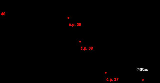 Lhota pod Libčany 38 na parcele st. 2/1 v KÚ Lhota pod Libčany, Katastrální mapa