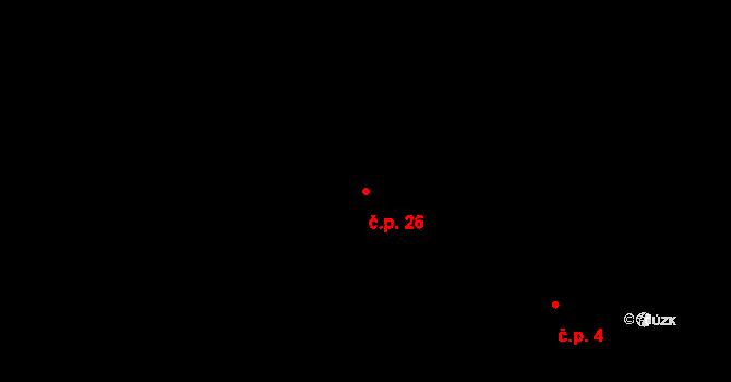 Stropčice 26, Švihov na parcele st. 53 v KÚ Stropčice, Katastrální mapa