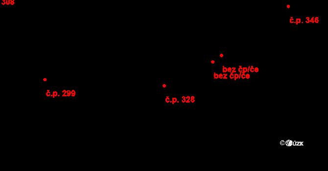 Liberec XIV-Ruprechtice 328, Liberec na parcele st. 57 v KÚ Ruprechtice, Katastrální mapa