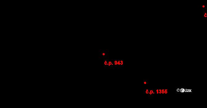 Liberec XIV-Ruprechtice 943, Liberec na parcele st. 1225/3 v KÚ Ruprechtice, Katastrální mapa
