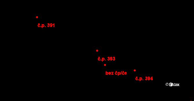 Březno 393 na parcele st. 269/55 v KÚ Březno u Chomutova, Katastrální mapa