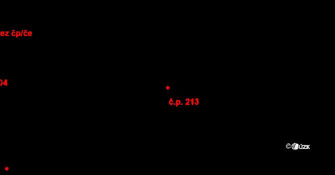 Souš 213, Most na parcele st. 7519/3 v KÚ Most II, Katastrální mapa
