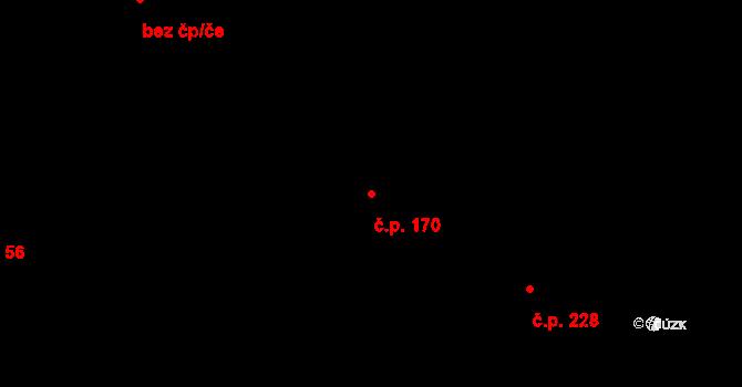 Staré Hodějovice 170 na parcele st. 339/15 v KÚ Staré Hodějovice, Katastrální mapa