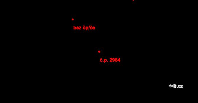 Zlín 2984 na parcele st. 3383 v KÚ Zlín, Katastrální mapa