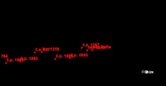 Aš 43131841 na parcele st. 3532 v KÚ Aš, Katastrální mapa