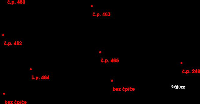 Svítkov 465, Pardubice na parcele st. 459 v KÚ Svítkov, Katastrální mapa