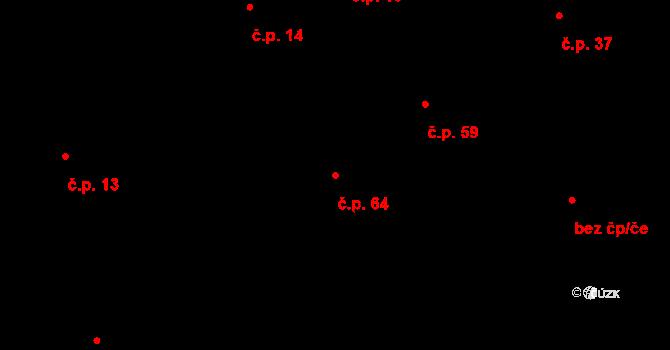 Chocomyšl 64 na parcele st. 79 v KÚ Chocomyšl, Katastrální mapa