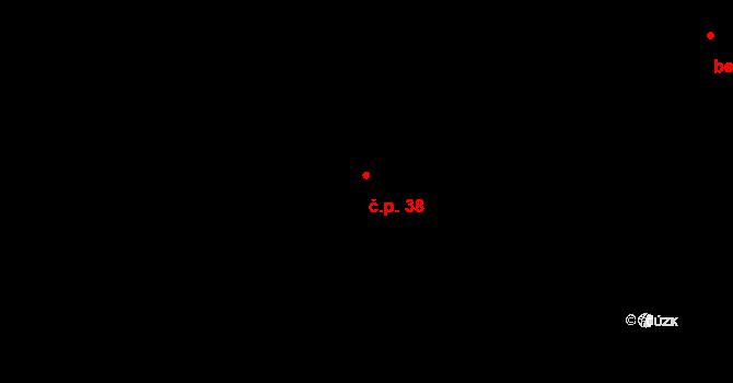 Řešetova Lhota 38, Studnice na parcele st. 22 v KÚ Řešetova Lhota, Katastrální mapa