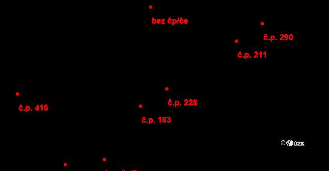 Studánka 228, Pardubice na parcele st. 229 v KÚ Studánka, Katastrální mapa