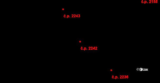 České Budějovice 2 2242, České Budějovice na parcele st. 304/8 v KÚ Haklovy Dvory, Katastrální mapa