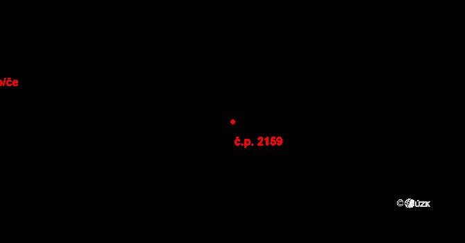 Kladno 2159 na parcele st. 1036 v KÚ Kladno, Katastrální mapa