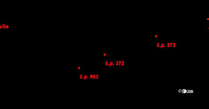 Moravská Ostrava 372, Ostrava na parcele st. 2310/9 v KÚ Moravská Ostrava, Katastrální mapa