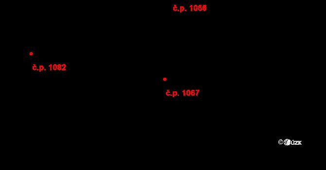 Nivnice 1067 na parcele st. 1981/72 v KÚ Nivnice, Katastrální mapa