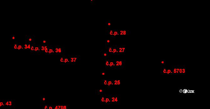 Jihlava 26 na parcele st. 55/1 v KÚ Jihlava, Katastrální mapa