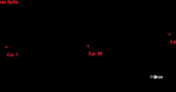 Poruba 55, Ostrava na parcele st. 2632 v KÚ Poruba, Katastrální mapa