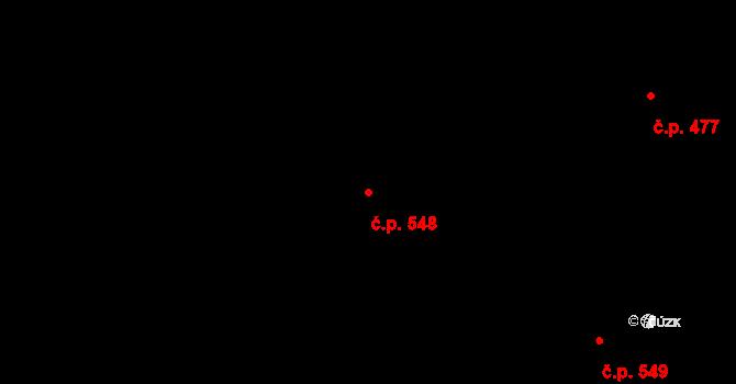 Povel 548, Olomouc na parcele st. 972 v KÚ Povel, Katastrální mapa