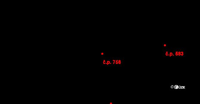 Bartovice 758, Ostrava, Katastrální mapa