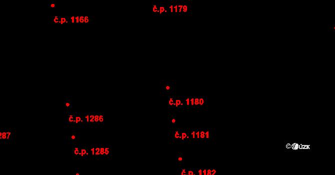 Svítkov 1180, Pardubice na parcele st. 1981 v KÚ Svítkov, Katastrální mapa