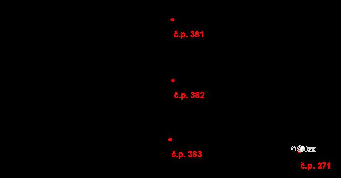 Písnice 382, Praha na parcele st. 910/32 v KÚ Písnice, Katastrální mapa
