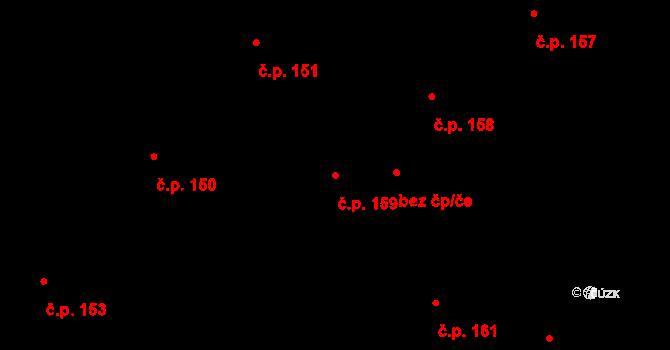 Plavsko 159 na parcele st. 164/1 v KÚ Plavsko, Katastrální mapa