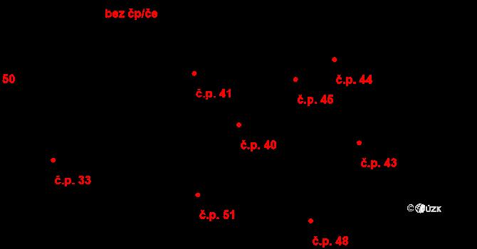 Rovná 40 na parcele st. 4 v KÚ Rovná u Strakonic, Katastrální mapa