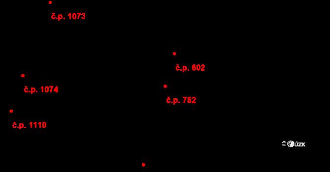 Nivnice 752 na parcele st. 2015 v KÚ Nivnice, Katastrální mapa