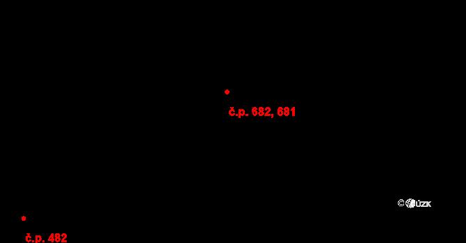 Chrudim III 681,682, Chrudim na parcele st. 2422 v KÚ Chrudim, Katastrální mapa